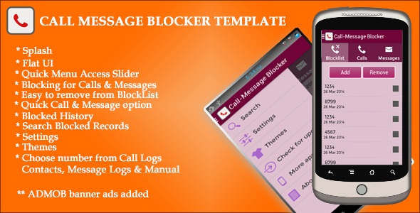 Call SMS Blocker Template