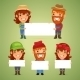 Farmers with Blank Placards - GraphicRiver Item for Sale