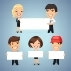 Managers with Blank Placards - GraphicRiver Item for Sale