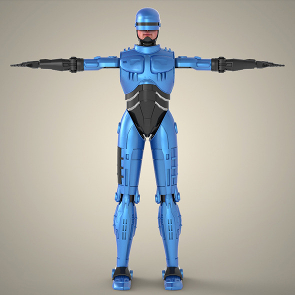 Superhero Robocop - 3DOcean Item for Sale