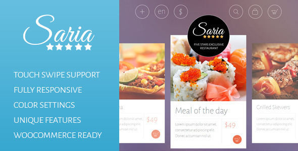 Saria Shop – Flat Responsive WordPress Theme
