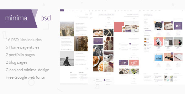 Minima – Multipurpose PSD Template