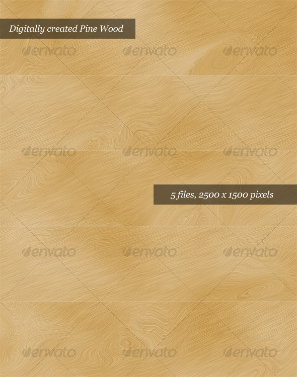 Digital Pine Wood Textures (Pack of 5) - Wood Textures