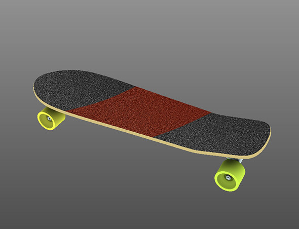 Slalom Skateboard - 3DOcean Item for Sale
