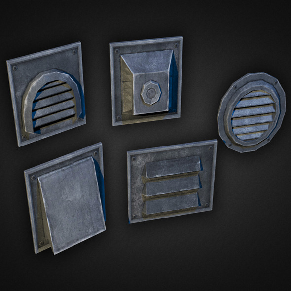Wall Vents Pack 01 - 3DOcean Item for Sale