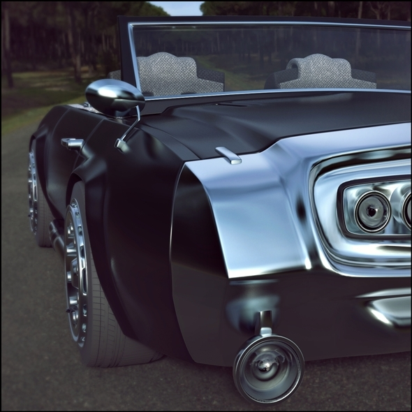 Muscle car (concept) - 3DOcean Item for Sale