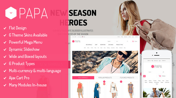 SM Papa – Responsive Fashion Theme for Magento