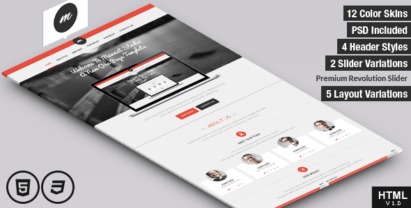 Mannat Studio Flat Clean One Page Html Template By Mannatstudio