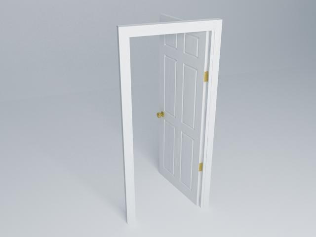 Door (Colonial Primed Woodgrain - 762mm Wide)