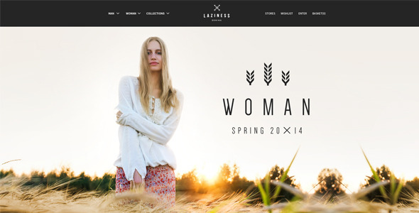 Laziness psd Template - Fashion Retail