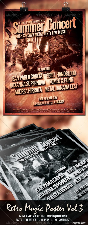 Retro Muzic Flyer/Poster Vol.3 - Concerts Events