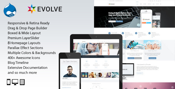Evolve - MultiPurpose, Creative Drupal Theme - Drupal CMS Themes
