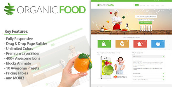 Organic Food – Responsive Drupal Theme