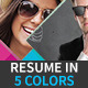 Resume & Cover Letter in 5 Colors - GraphicRiver Item for Sale