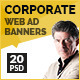 Corporate Web Ad Marketing Banners - GraphicRiver Item for Sale