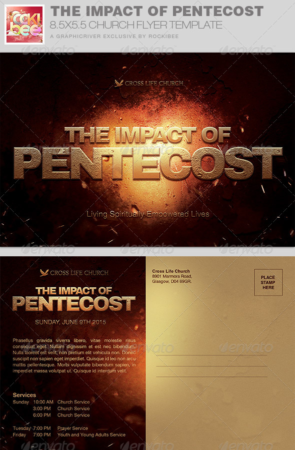 The Impact of Pentecost Church Flyer Invite by Rockibee | GraphicRiver