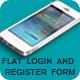 Flat Login And Register Form - GraphicRiver Item for Sale