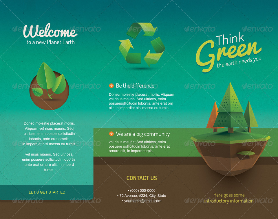 vintage style ecology brochure template by insectodesign