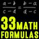 33 Math Formulas - VideoHive Item for Sale