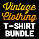 Vintage Clothing T-Shirt Bundle - GraphicRiver Item for Sale