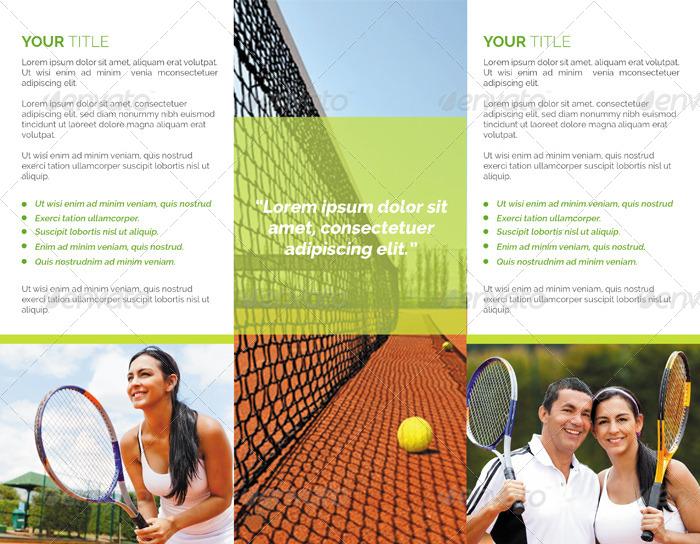 tennis club trifold brochure by studiorgb