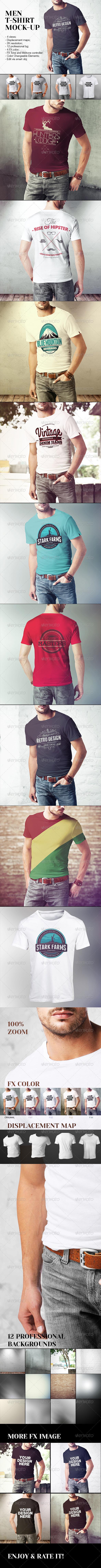 Men T-Shirt Mock-Up - T-shirts Apparel