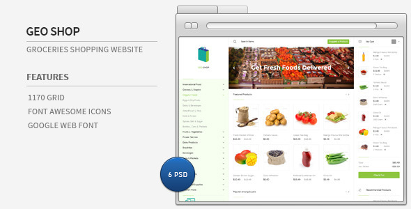 Geo Shop - Groceries Shopping Website
