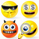 Cartoon Yellow Smileys - GraphicRiver Item for Sale