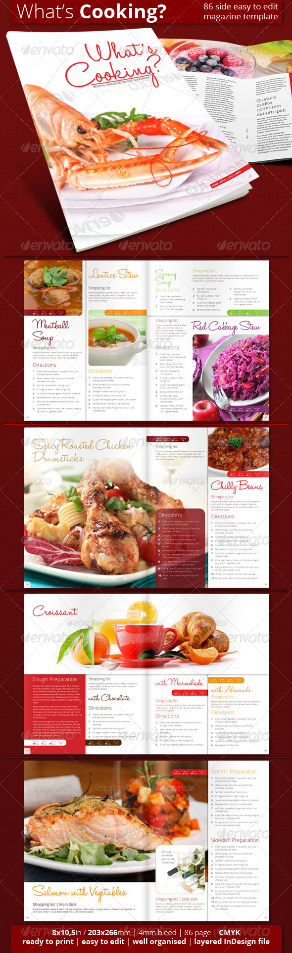 What's Cooking - Magazines Print Templates