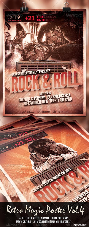 Retro Muzic Flyer/Poster Vol.4 - Clubs & Parties Events