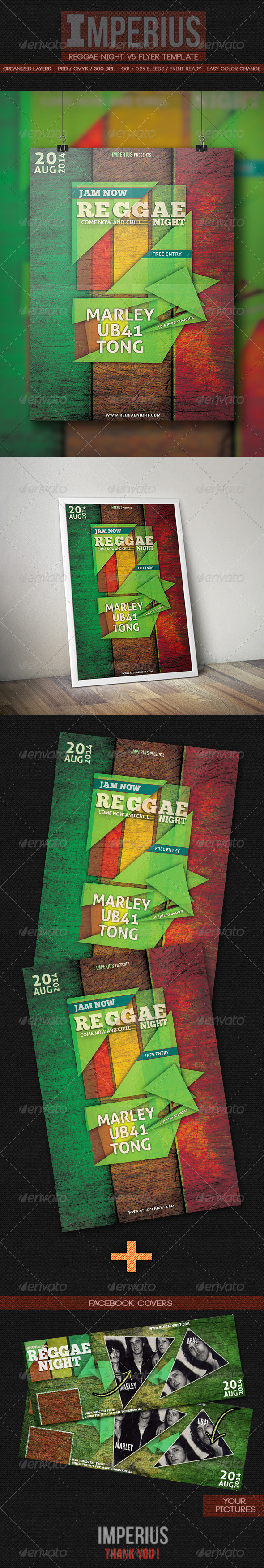 Reggae Night V5 - Flyers Print Templates