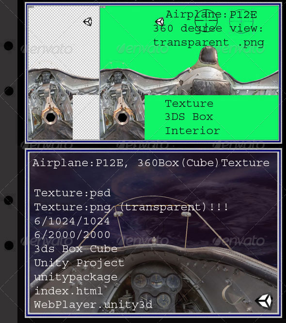 Airplane P12E interior - 3DOcean Item for Sale