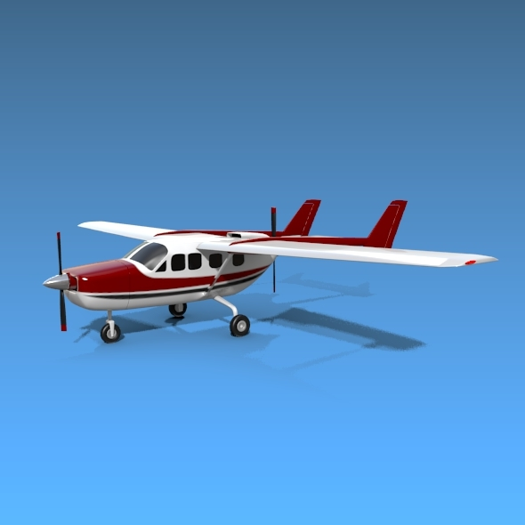 Cessna Skymaster 337 propeller aircraft - 3DOcean Item for Sale