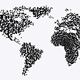World Map - Particle Formation - Black & White - VideoHive Item for Sale