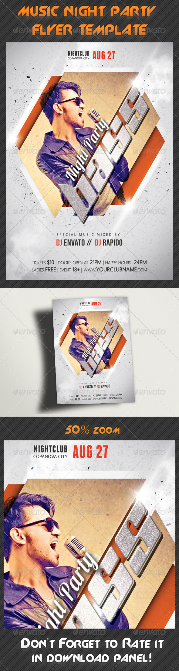 Music Night Party Flyer Template 18 - Clubs & Parties Events