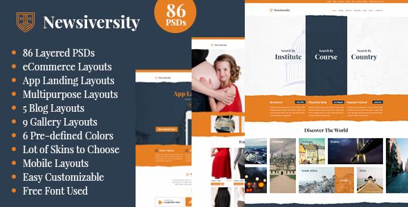 Newsiversity - PSD - PSD Templates