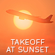 Plane Takeoff at Sunset - VideoHive Item for Sale