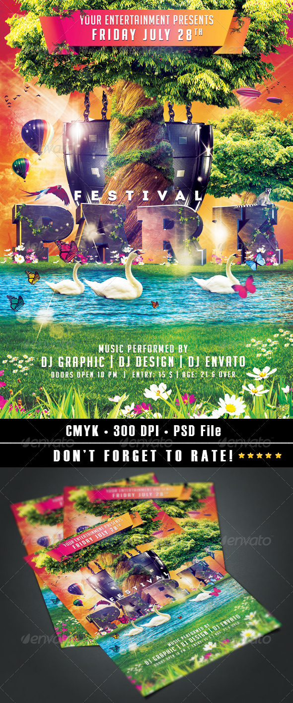 Park Festival flyer - Events Flyers