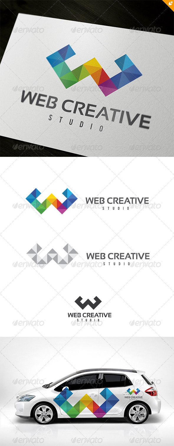 Web Creative Studio Logo - 3d Abstract