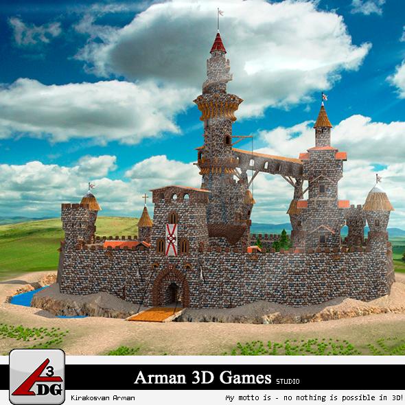 Fairytale Castle - 3DOcean Item for Sale