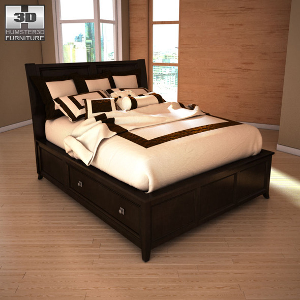 Ashley Martini Suite Storage Bedroom Set by humster3d | 3DOcean