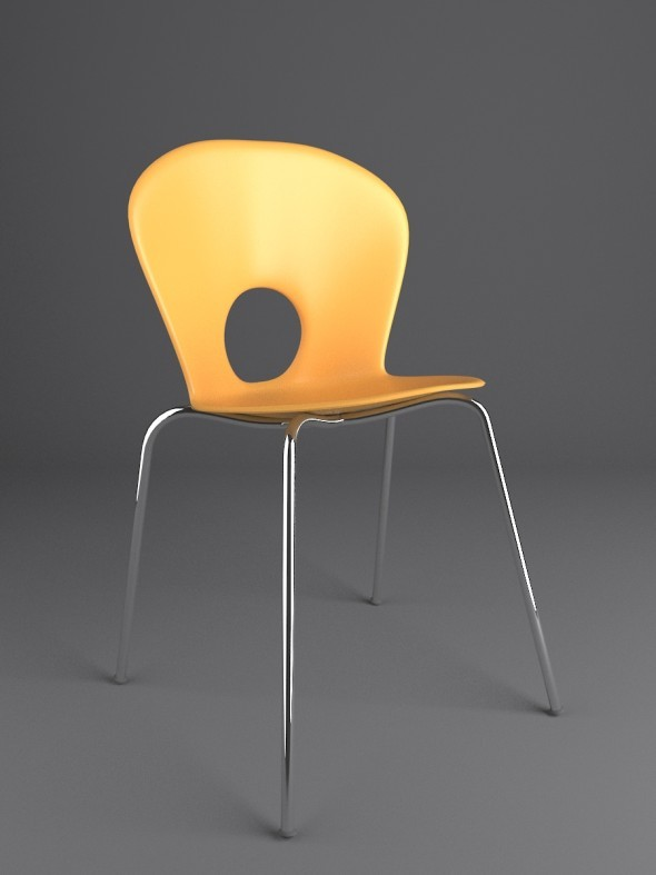Olivia Stackable Chair - 3DOcean Item for Sale