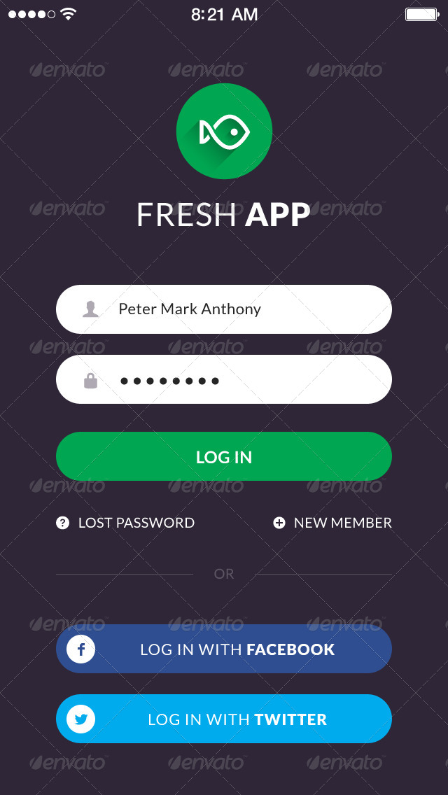 fresh flat mobile ui kit by vuuuds