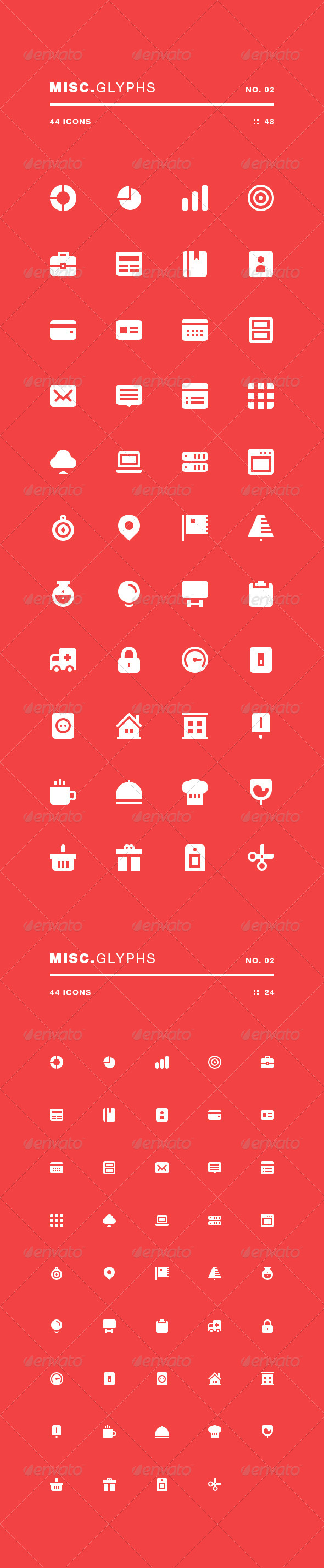 Misc Glyphs 02 - Web Icons
