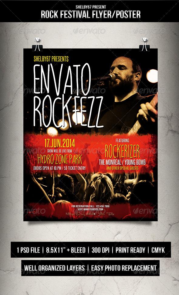 Rock Festival Flyer / Poster  - Events Flyers