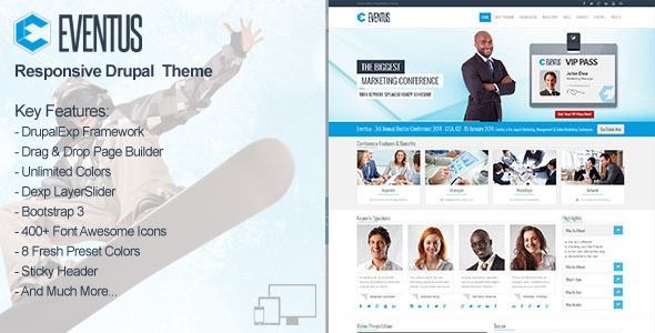 Eventus – Responsive Events Drupal Theme