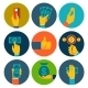 Set of Money in Hands Icons - GraphicRiver Item for Sale