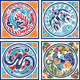 Fire Air Water Earth Animal Symbols - GraphicRiver Item for Sale