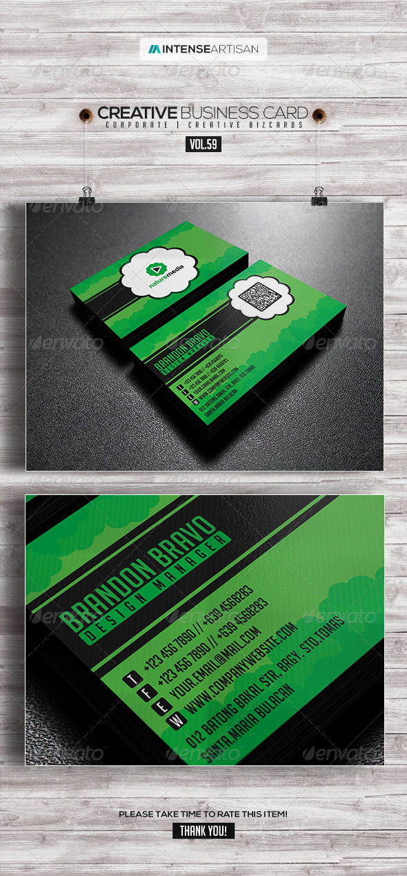 IntenseArtisan Business Card Vol.59 - Creative Business Cards