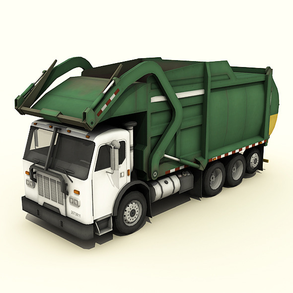 Garbage Truck - 3DOcean Item for Sale
